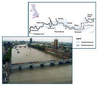 Westminster Bridge and the Houses of Parliament and Thames Estuary Pilot Study Area Map