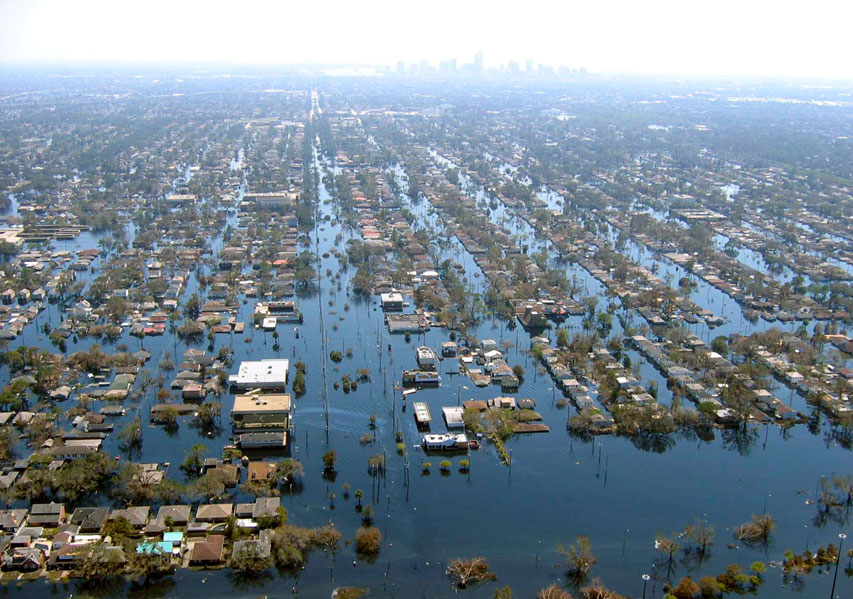 Hurricane Katrina: flooding in New Orleans 2